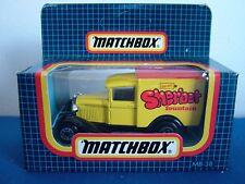 MATCHBOX MB38 - FORD MODEL A VAN - BARRETT SHERBET FOUNTAIN - BLACK CHASSIS