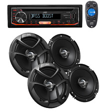 JVC In Dash Car Audio Stereo MP3 AUX Player + 4 JVC 6.5