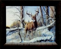 Jim Hansel After the Season Deer Buck Print-Framed 19 x 15 Glass