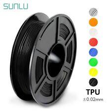 Sunlu TPU flexible filamento 1.75MM Alta Resiliencia Flexible 0.5kg 3D Impresora