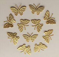100 Luminoso Oro Con Brillantini Tessuto Farfalla Motivi- D I Y Cartoncino