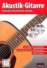 Akustik-Gitarre schnell und einfach lernen (+CD +DVD) : für Gitarre inkl.Versand