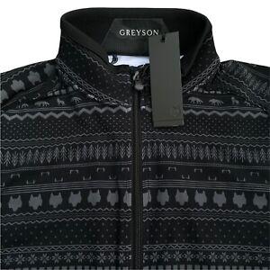 Greyson Golf Sequoia Full Zip Jacket Black Spiritchaser Print Small $185