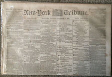 Original 1861 Civil War Newspaper/Slidell Captured/Sherman Takes Slaves