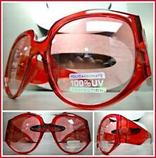 OVERSIZED EXAGGERATED VINTAGE RETRO Style SUN GLASSES Super Thick Red Frame Lens