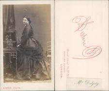 Disdéri, Paris, Madame Dalgety CDV vintage albumen Tirage albuminé  6,5x10,5