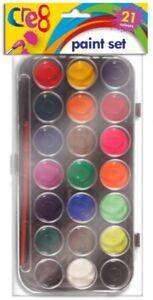 Brand New - 21 Colours Children Kid Water Jumbo Paint Palette Set