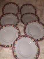 """Pfaltzgraff Atmosphere Grandma's Kitchen Set of Seven Saucers Plates 6.5"""""""