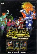 Caballeros Del Zodiaco, LAS 12 CASAS DVD VOL 2, 32 CAPITULOS Español Latino NEW
