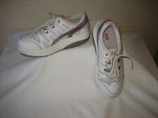 MBT Womens White And Gray Leather  Athletice Inspired Lace Up Shoes Shoe Size 6