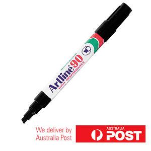 1 x Artline 90 Permanent Marker Chisel 2-5mm in Black