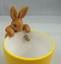 New listing Bunny Rabbit Sitter Hanger Huggers Garden Flower Pot Statue Animal Figurine #3
