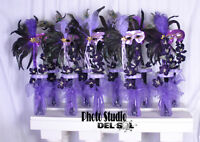 10 Centerpieces Quinceanera sweet sixteen Masquerade Mardi Grass Mask lot of 10
