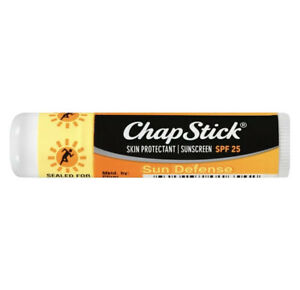 1X ChapStick Sun Defense Sun Protectant Sunscreen SPF 25 Lip Balm 0.15 Oz Each