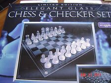 Limited Edition Glass Chess & Checkers Set