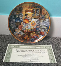 Franklin Mint Plate Gold Medal Flour Cats Bill Bell Limited 115 Anniversary
