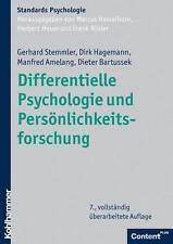 Differentielle Psychologie und Persönlichkeitsforschung von Dieter Bartussek, Manfred Amelang, Dirk Hagemann und Gerhard Stemmler (Gebundene Ausgabe)