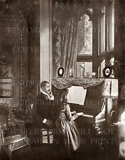 African American piano teacher & student 1899 photo CHOICE 5x7 or request 8x10..