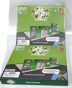 WOOLWORTHS BRICKS STARTER BASIC PACK KIT - 2 Basics Kits LEGO COMPATIBLE RARE