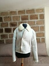 Shearling | giacca montone pelle donna Tg. 42 | woman's aviator leather jacket