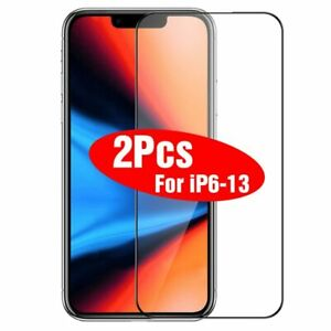 For iPhone 13 12 11 Pro XR XS Max 8 7 FULL COVER Tempered Glass Screen Protector