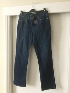 LANDS END  high rise STRAIGHT LEG stretch JEANS - SIZE 8 / 30 inside Leg NEW