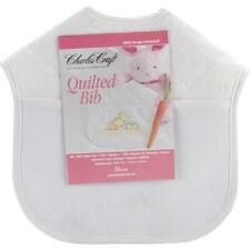 DMC Quilted Baby Bib 14 Count 9-inch X 9-inchsolid White Other Multicoloured