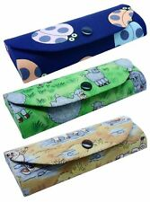 Womens Animal Print Protective Ladies Hard Metal Glasses Spectacle Case