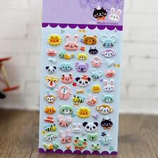 1pcs Animal Kingdom Zoo 3D Puffy Sticker Kids DIY Diary Album Scrapbooking Decor