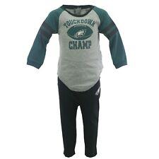 Philadelphia Eagles Nfl Apparel Baby Infant Size Creeper & Pants Combo Set New