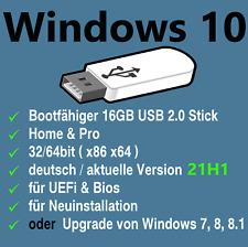 Windows 10 21H1 Professional & Home 32/64bit USB Stick Upgrade + Neuinstallation