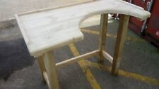 Bespoke Jewellers and Silversmiths hand made bench / table from £195 Solid wood.