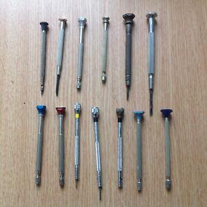 Vintage Screwdrivers Drills Watchmaker Clockmaker Tools Bergeon Bestfit Oris T13