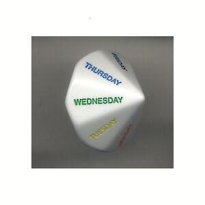 Wochentagswürfel  - Day of the week die
