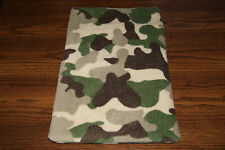New Camo Print #2 Fleece Dog Cat Pet Carrier Crate Blanket Bed Pad Free S/H! Bcr