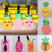Creative Suitcase Flamingo Pineapple Name Address Label Luggage tag  Silicone