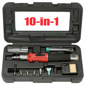 Cordless Auto Ignition Butane Gas Soldering Iron Kit Ignite Welding Torch Tool