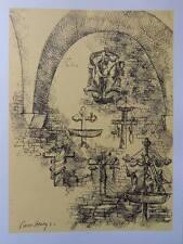 Pierre HENRY - Croix de Mariniers   - 2 gravures signées #322ex + justificatif