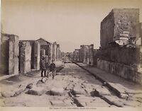 Pompei Foto Alinari Italia Vintage Albumina Ca 1880