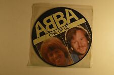 "abba 7"" picture disc   one of us/should i laugh     uk imp  epc a 11-1740   vg+"