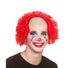 Funny Clown Wig Bald Cap Red Curly Wig Clowns Fancy Dress