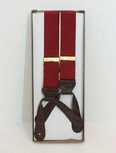 Trafalgar Braces or Suspenders Red Nylon Embossed Lizard Grain Leather Tabs UK