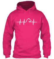 Supersoft Heart Beat Horse Gildan Hoodie Sweatshirt Gildan Hoodie Sweatshirt