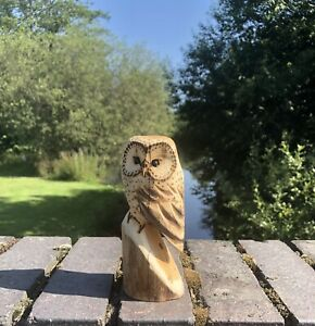 Bespoke Chainsaw Owl Carvings In Wood OW1313.5