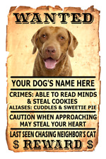 Chesapeake Bay Retriever Wanted Poster Flex Fridge Magnet Personalized