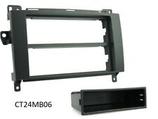 MERCEDES-BENZ B-CLASS W245 2005 to 2011 BLACK DOUBLE & SINGLE DIN FASCIA ADAPTER