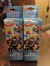 New~ Dc Superhero Girls Bathtub Fizzie Color Tablets X's 2 ~Free Shipping