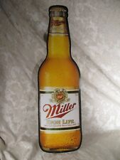 Miller High Life Beer Bottle Metal Tin Bar Display Sign