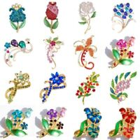 Retro Elegant Rhinestone Crystal Flower Wedding Bridal Bouquet Brooch Pin Gift