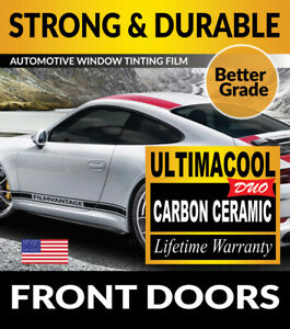 UCD CARBON CERAMIC PRECUT FRONT DOORS WINDOW TINT AUTO GLASS TINTING FILM 20-21